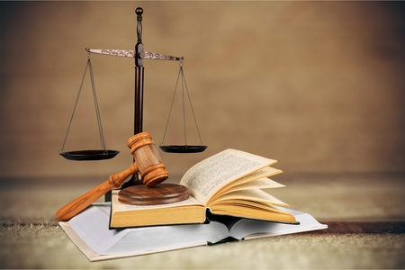 à  law: Ley de Justicia. Foto de archivo