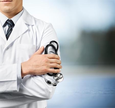 doctor: Doctor en primer plano. Foto de archivo