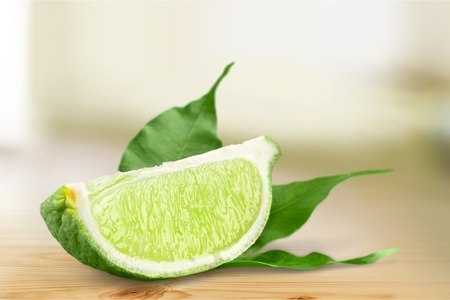 segment: Lime segment.
