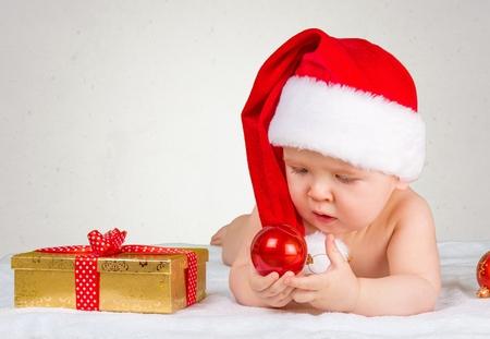 xmas baby: Xmas baby. Stock Photo