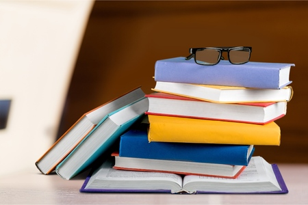 book stack: Book stack. Stock Photo