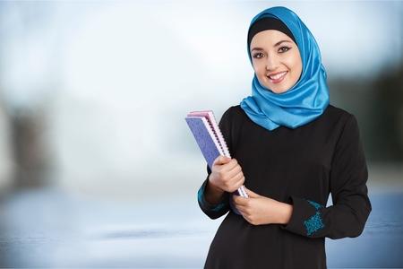무슬림 여성 학생. 스톡 콘텐츠