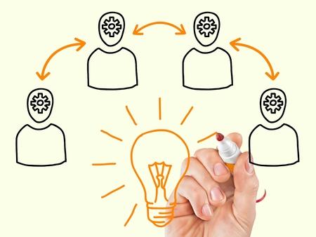 intelligent partnership: Team concept. Stock Photo