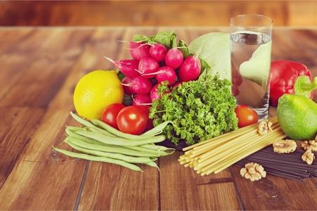 comida sana: La comida sana.  Foto de archivo