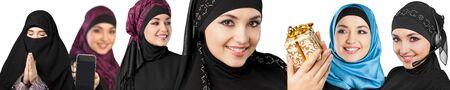 personas leyendo: Mujer musulmana.
