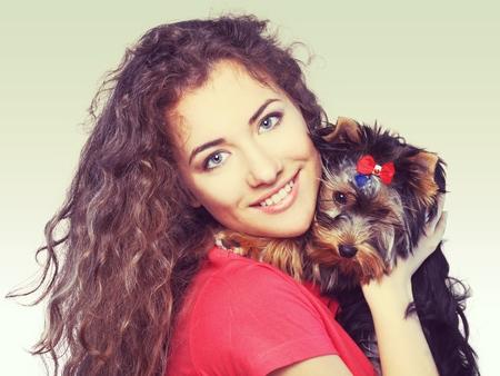dog isolated: Embracing Dog. Stock Photo