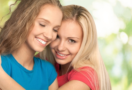 sexual issues: Sister Happiness. Stock Photo