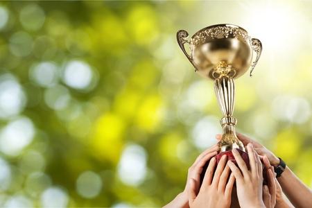 reconocimientos: Trofeo que gana. Foto de archivo