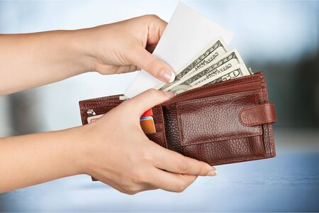 cash in hand: Paying Cash.