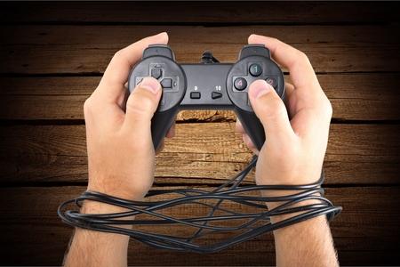 게임 중독자. 스톡 콘텐츠