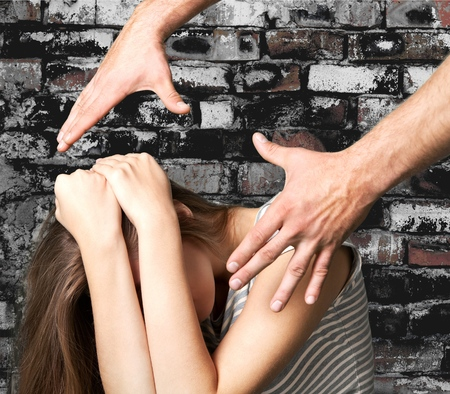 domestic: Domestic abuse. Stock Photo