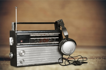 radio station: Antique radio.