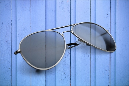 dark: Dark sunglasses. Stock Photo