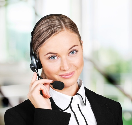 customer service representative: Customer Service Representative. Stock Photo