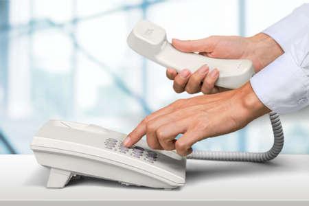 telephone receiver: Telephone.