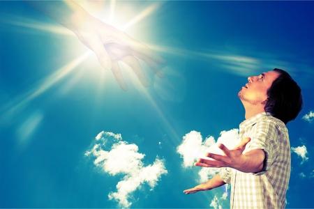 god: Praying. Stock Photo