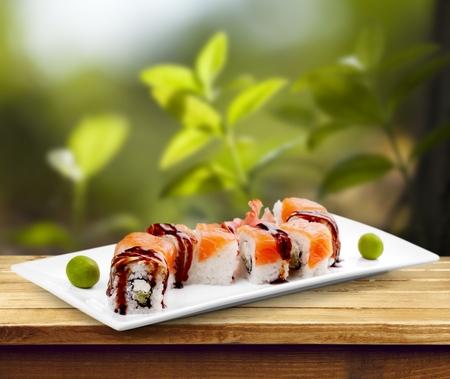 sushi: Sushi. Stock Photo