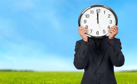 12 o'clock: Time. Stock Photo