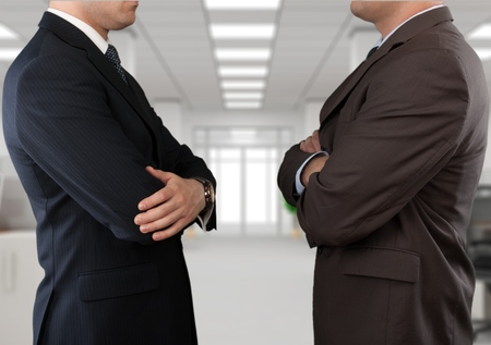 business rival: Conflict. Stock Photo