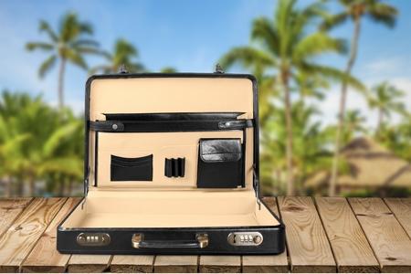 personal accessory: Briefcase. Stock Photo