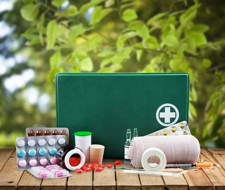 first aid kit: First Aid Kit.
