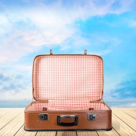 luggage travel: Case. Stock Photo