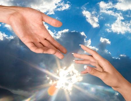 conquering adversity: Human Hand.