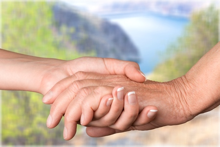 clasped hand: Senior Adult.
