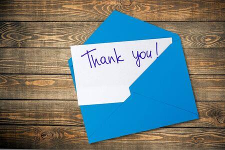 letter envelopes: Thank You. Stock Photo