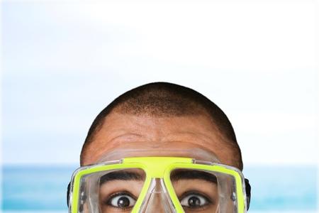 scuba goggles: Scuba Diving. Stock Photo