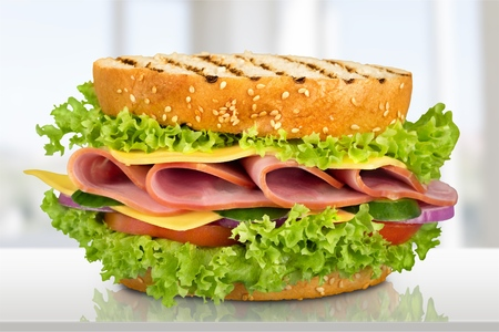 toasted sandwich: Sandwich. Stock Photo