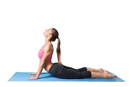 southern european descent: Yoga. Stock Photo