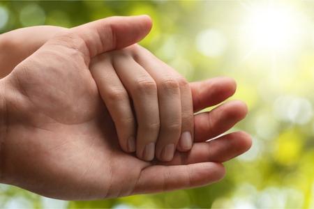 Menselijke hand. Stockfoto