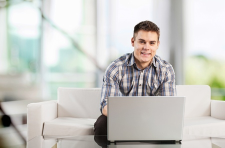 business casual: Laptop. Stock Photo