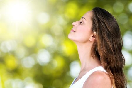 aire puro: Respira. Foto de archivo