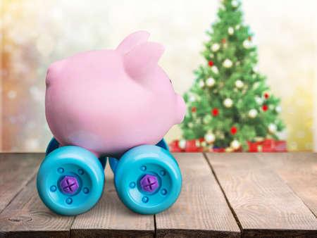 christmas savings: Piggy Bank.