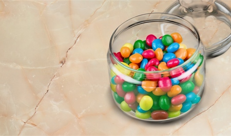 glass jars: Jar. Stock Photo