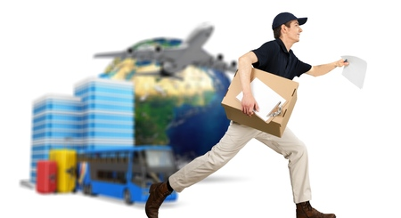 messengers: Delivering. Stock Photo