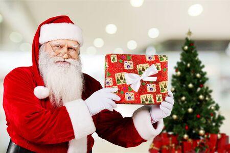 blue santa: Santa Claus. Stock Photo