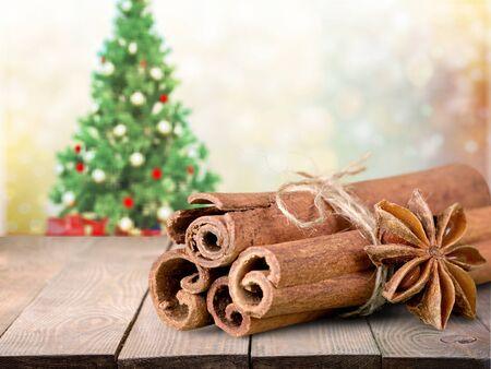 badiane: Cinnamon. Stock Photo