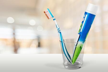 pasta dental: Cepillo de dientes. Foto de archivo