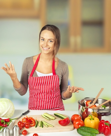 teenagers only: Cooking. Stock Photo