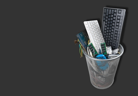 wastepaper basket: Recycling. Stock Photo