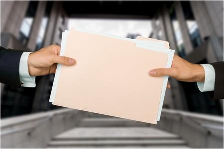 exchanging: File. Stock Photo
