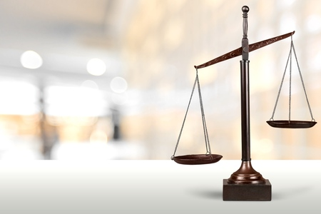 Scales of Justice. Banque d'images