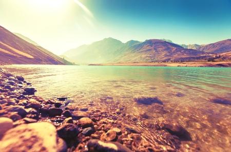 autumn colour: Lake.