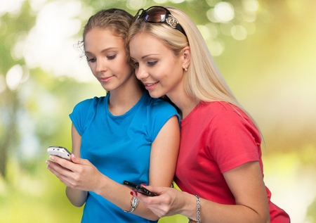 southern european descent: Mobile Phone. Stock Photo