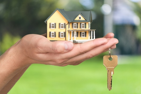buying a home: House.
