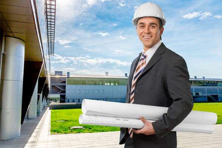 executive helmet: Engineer. Stock Photo