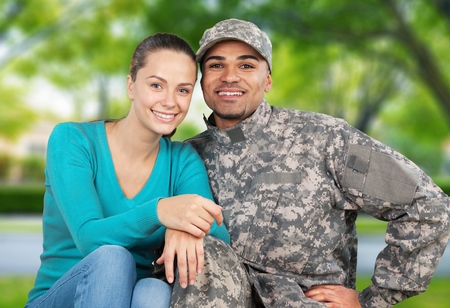 military man: Veteran. Stock Photo